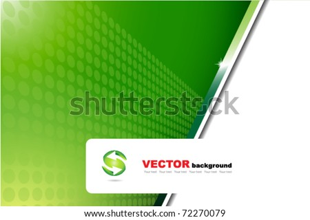 ecology green background and icon - stock vector