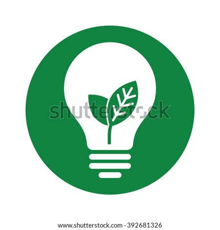 ecology green lamp tube icon