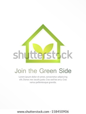 Ecology house concept background. EPS10 vector. - stock vector