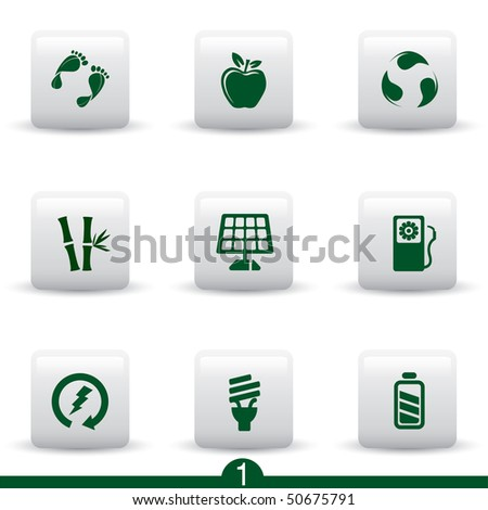 Ecology icon series 1 - stock vector
