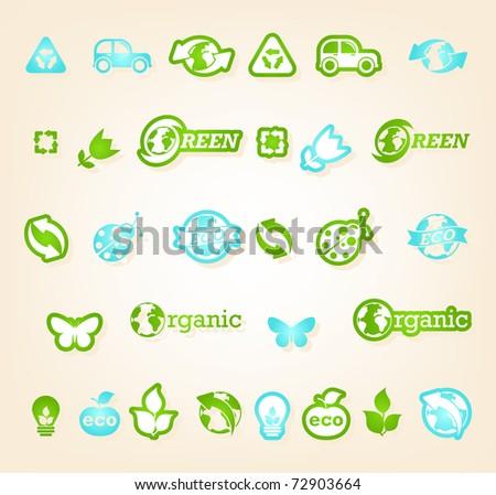 Ecology icon set - stock vector