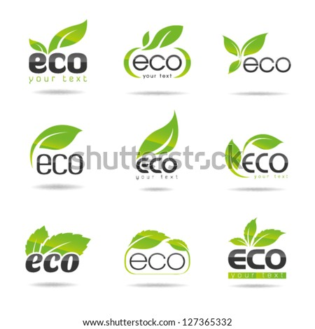 Ecology icon set. Eco-icons 1 - stock vector