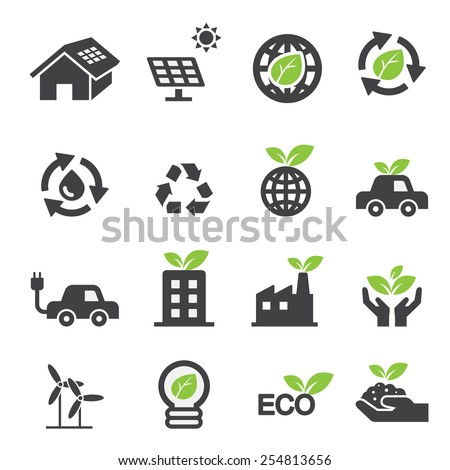 Ecology icons - stock vector