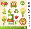 Ecology icons and design elements - stock vector