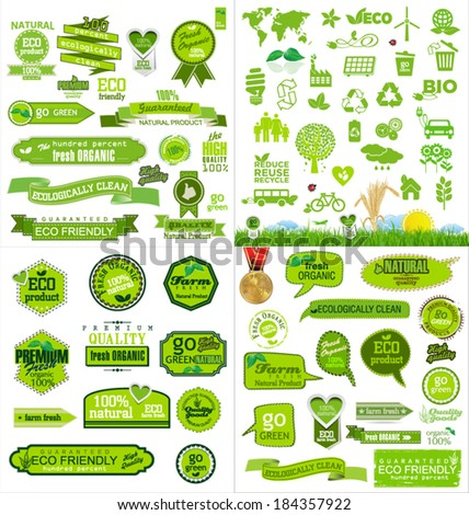 Ecology icons collection - stock vector