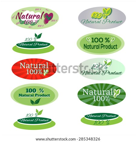 Ecology icons, Ecology set of environment, green energy and pollution icons.  collection of labels for natural products .