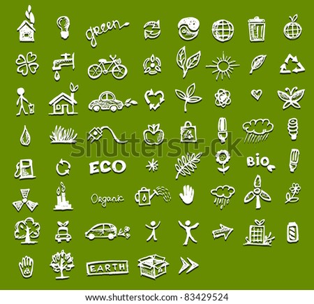 Ecology icons for your design - stock vector
