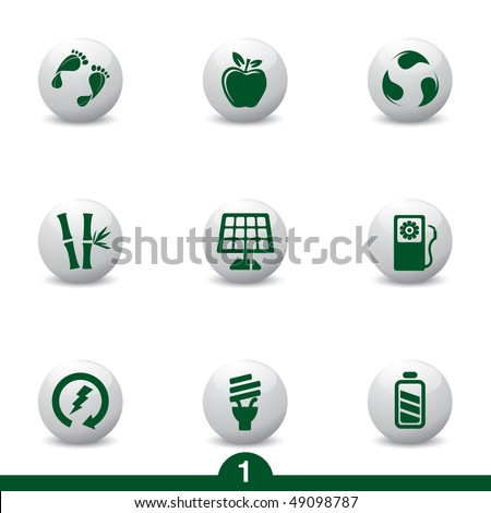 Ecology icons from series - stock vector