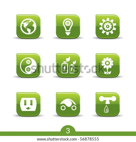 Ecology icons no.3..smooth series - stock vector