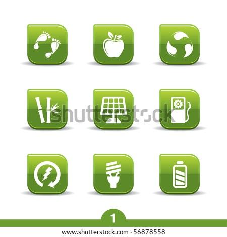 Ecology icons no.1..smooth series - stock vector