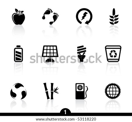 Ecology icons...series no.1 - stock vector
