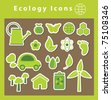ecology icons. vector illustration - stock vector