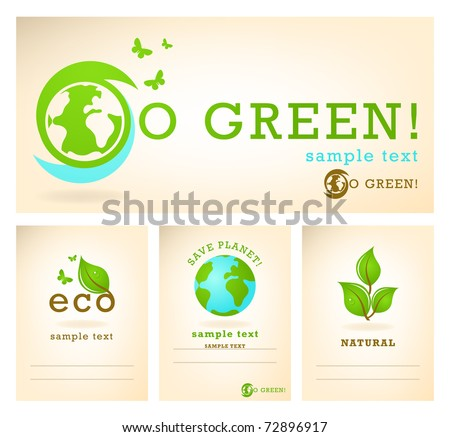 Ecology illustration - stock vector