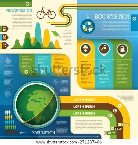 Ecology info graphic design. Vector illustration. - stock vector