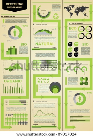 Ecology infographic. - stock vector