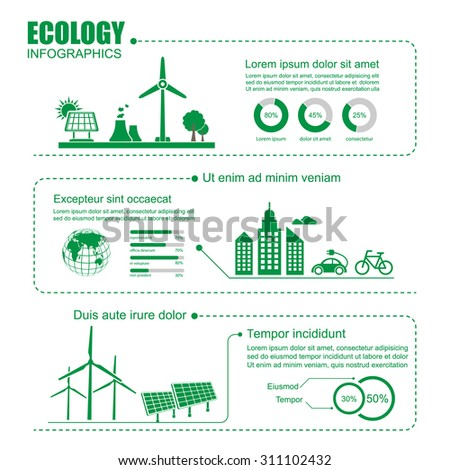 Ecology Infographic,vector - stock vector