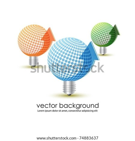 ecology light bulb symbols - stock vector