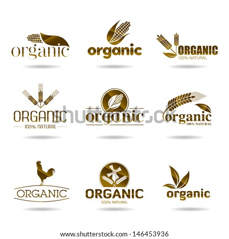 Ecology, organic icon set. Organic-icons - stock vector