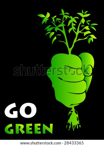 ecology poster 1 - stock vector