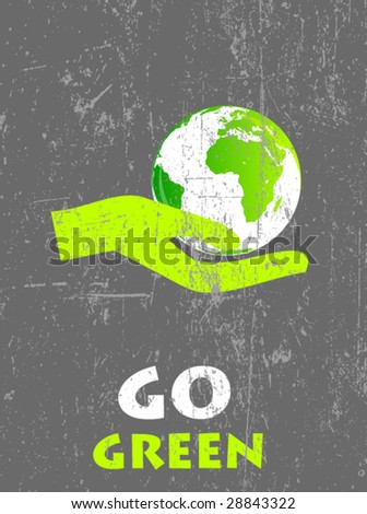 ecology poster 2 - stock vector