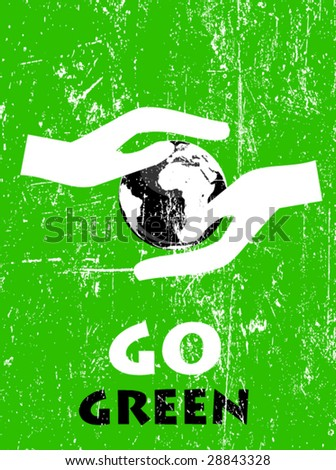 ecology poster 3 - stock vector