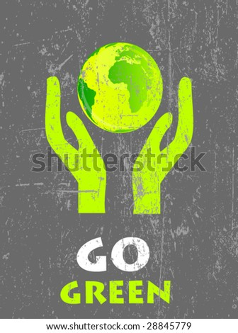 ecology poster 6 - stock vector