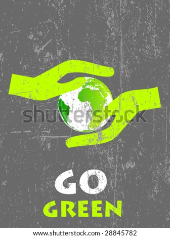 ecology poster 7 - stock vector