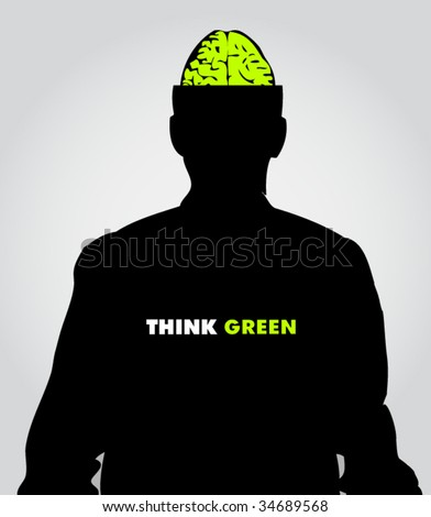 ecology poster #1 - stock vector