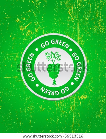 ecology poster - stock vector