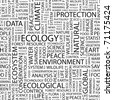 ECOLOGY. Seamless vector background. Wordcloud illustration. - stock photo
