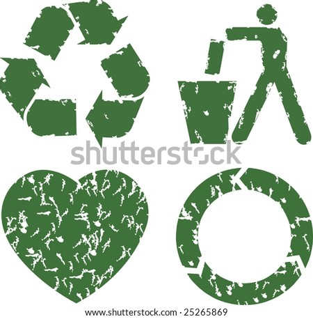 ecology symbol for preservation of nature - stock vector