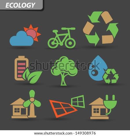 Ecology symbol,vector - stock vector