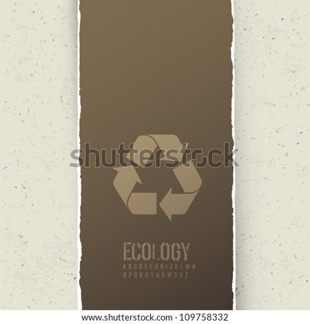 Ecology themed abstract background. Vector concept illustration, EPS10 - stock vector