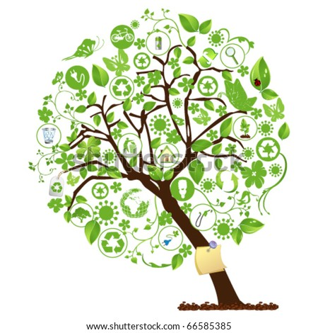 Ecology Tree - stock vector