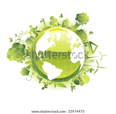 ecology vector concept - stock vector
