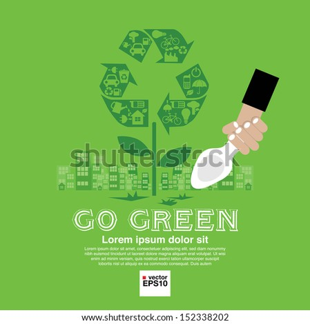 Ecology Vector Illustration Concept.EPS10 - stock vector
