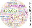 ECOLOGY. Word collage. Vector illustration. - stock vector