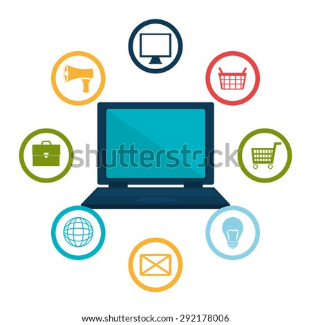 Ecommerce digital design, vector illustration eps 10.