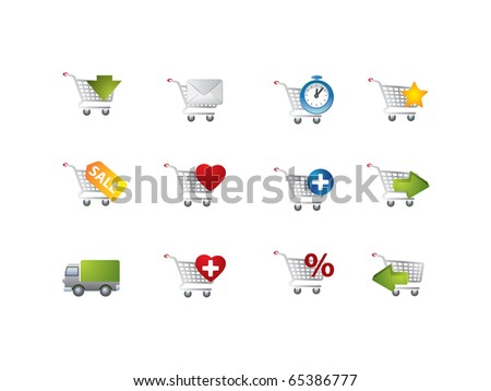 Ecommerce icons - stock vector