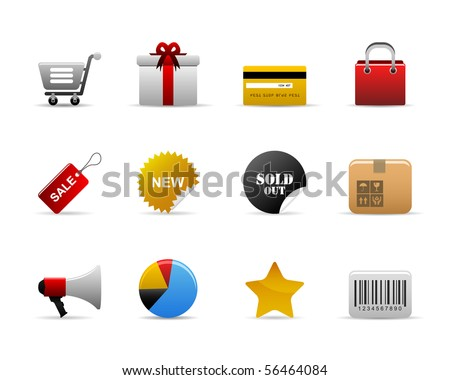 ecommerce Icons Vector - stock vector
