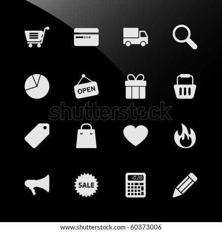 Ecommerce Shopping Web Icons - stock vector