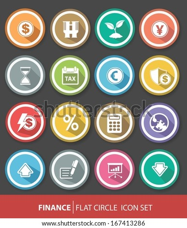 Economic and finance buttons,Colorful version,vector
