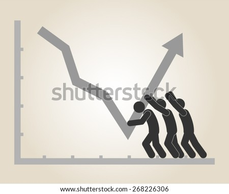 economy finance business recession inflation growth vector illustration - stock vector