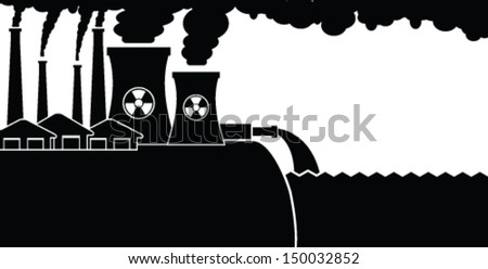 Ecosystem Contamination - stock vector
