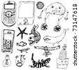ECTOR SET - Funny doodles - stock vector