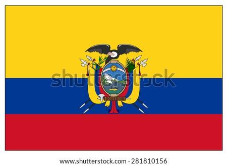 Ecuador Vector Flag Ecuador Flag Stock Vector
