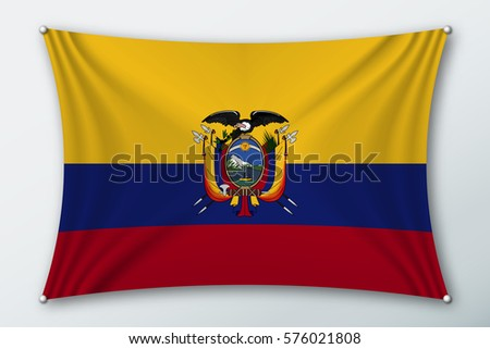 Ecuador National Flag Symbol Country On Stock Vector 576021808