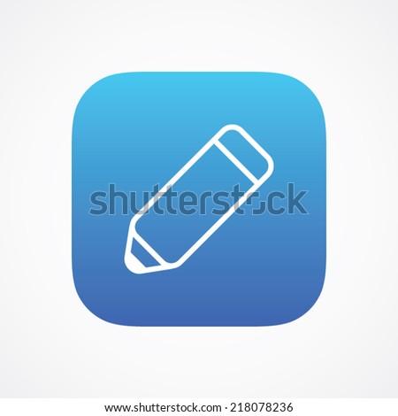 Edit Pencil icon button, vector illustration. Simple flat metro design style. esp10 - stock vector