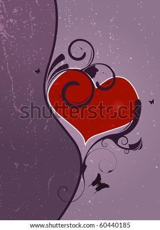Editable abstract Valentines day background with space for your text. - stock vector