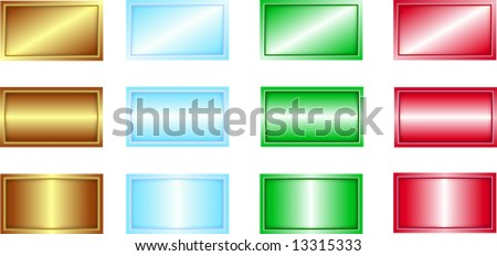 Editable backgrounds for business cards, name tags, etc, add your own script - stock vector